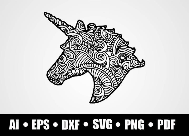 Mandala Unicorn / SVG / Dxf / Png / Eps / Ai / Pdf / Cricut explore /  Silhouette studio / Vinyl decal design /Shirt print /digital download