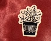 Abundance Money Plant Die Cut Vinyl Paper Sticker
