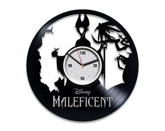 Maleficent Gift for Her Maleficent Vinyl Record Clock Angelina Jolie Vinyl Art