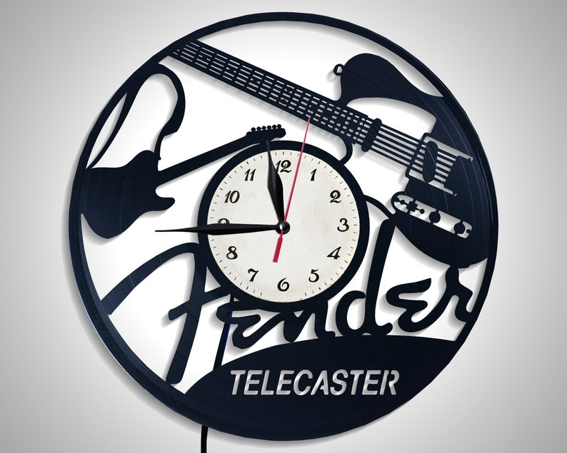 Fender Telecaster Retro Vinyl Record Electric Guitar Night Lamp Room  Decoration