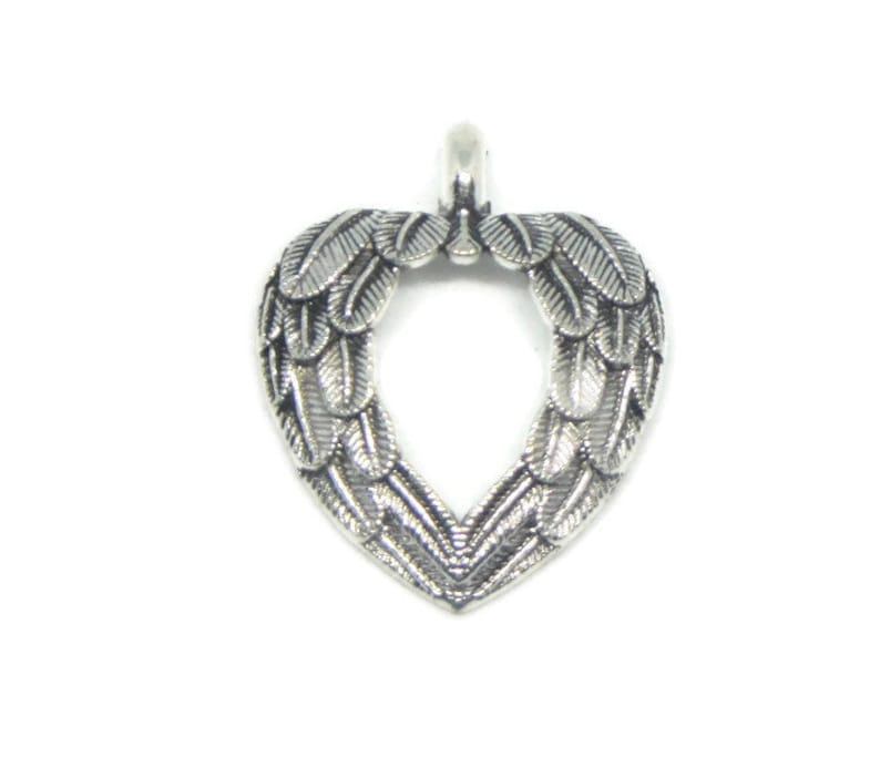 2 x ANGEL WINGS CHARMS PENDANTS TIBETAN SILVER 39mm TOP QUALITY