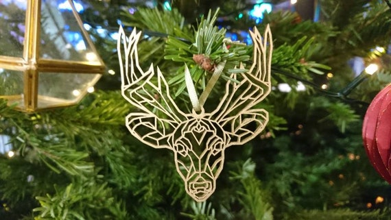 Reindeer Christmas Ornament Rose Gold