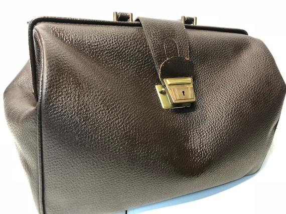 Leather Doctor Bag, Vintage Medical Bag, Vintage L