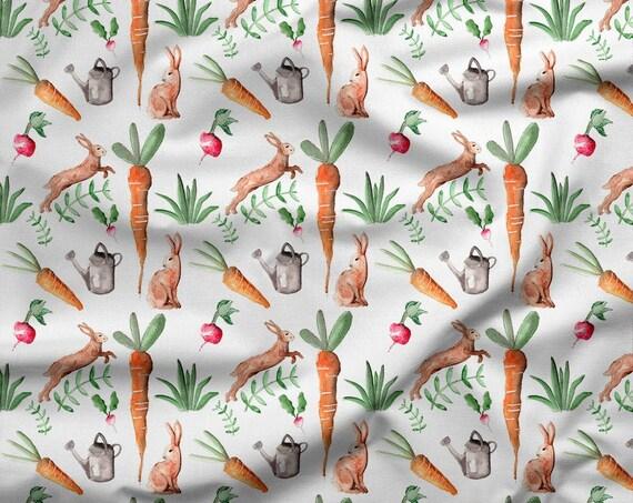 tissu coton oeko tex  carottes