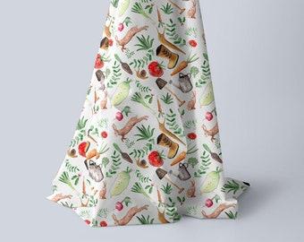 tissu  coton oeko tex  jardin
