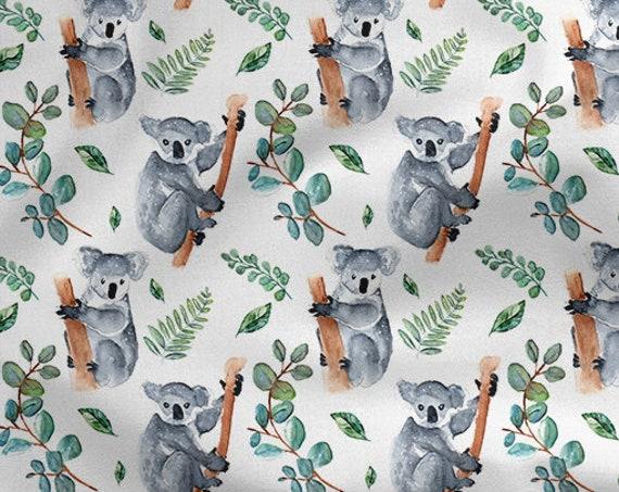 tissu coton oeko tex koalas