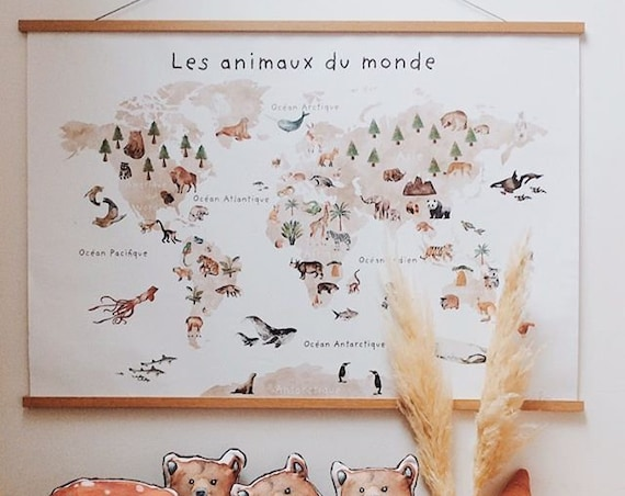 GEANTE poster poster map of the world animals