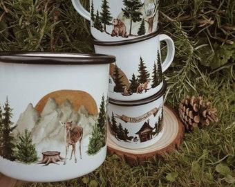 Mug FAON emailed camping vintage forest minimaki woodland