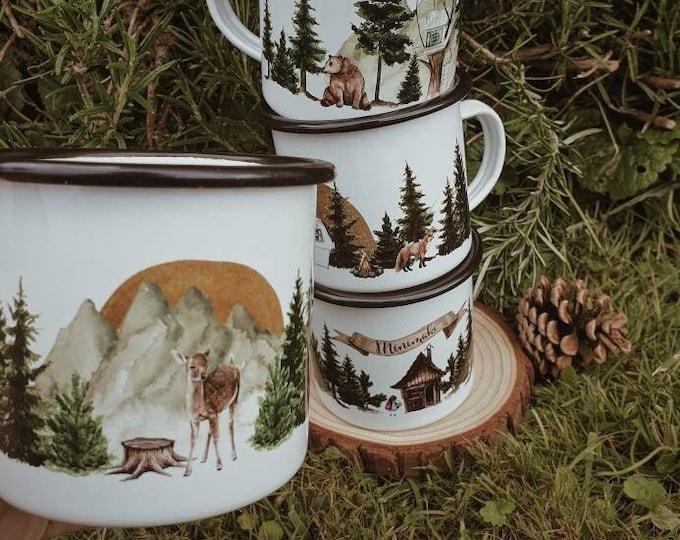 Featured listing image: Mug FAON emailed camping vintage forest minimaki woodland