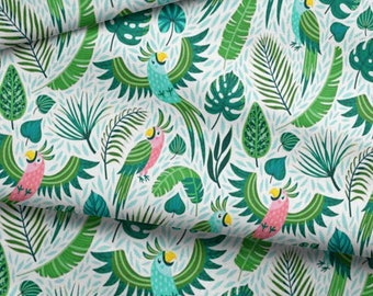 tissu par 10 centimetres coton oeko tex tropical