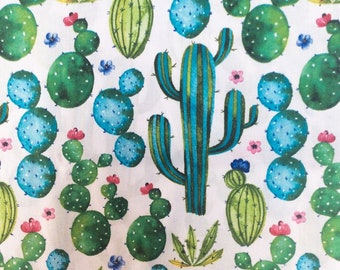 fabric per 10 centimeters cotton oeko tex cactus