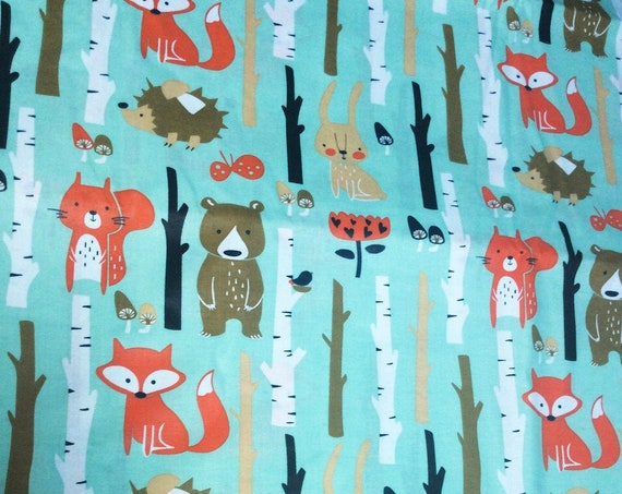cotton fabric oeko tex fox blue drill