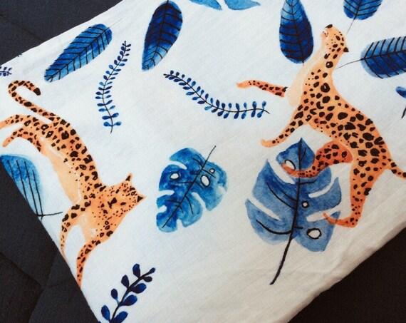 maxi lange leopard bleu