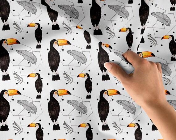 tissu coton oeko tex  toucan