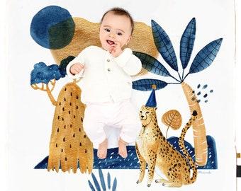 mon tapis leopard