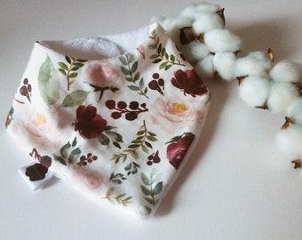 bib bandana bebe watercolor flowers