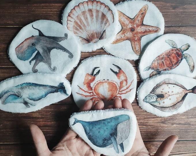 Children's wipes autonomy washable oeko tex minimaki de makeup baby care ocean