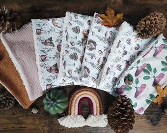 Snood illustrates autumn pattern collar child autumn winter sherpa watercolor