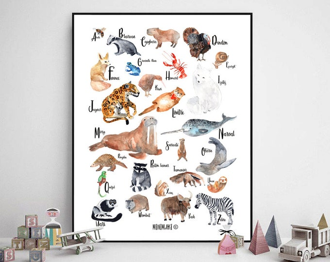 Featured listing image: alphabet des animaux
