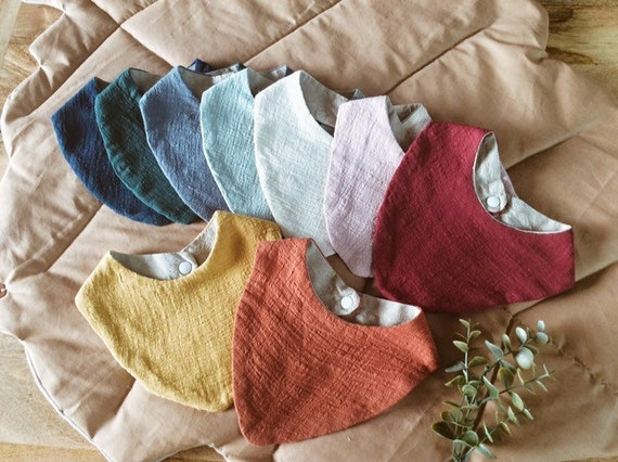 linen triangle scarf and organic light cotton