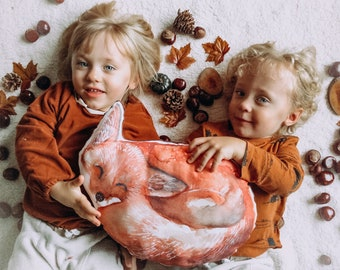 FOX cushion shape animal drill watercolor room baby decoration