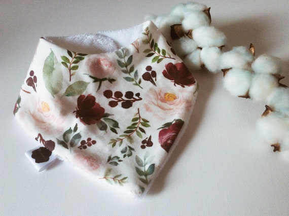 bib bandana bebe watercolor flowers