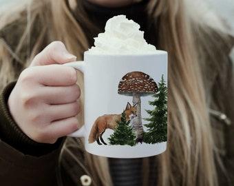 Mug drill minimaki woodland fox badger