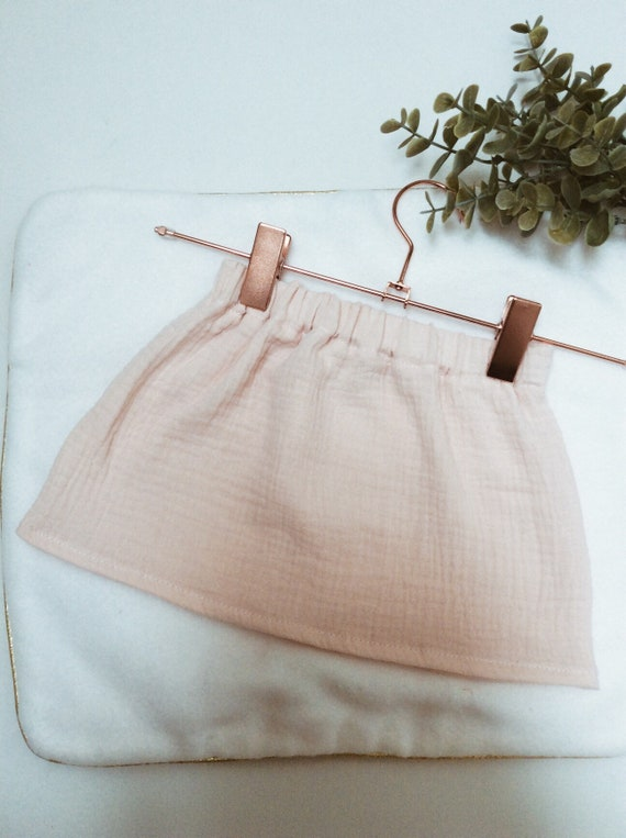 pink pastel double gauze skirt