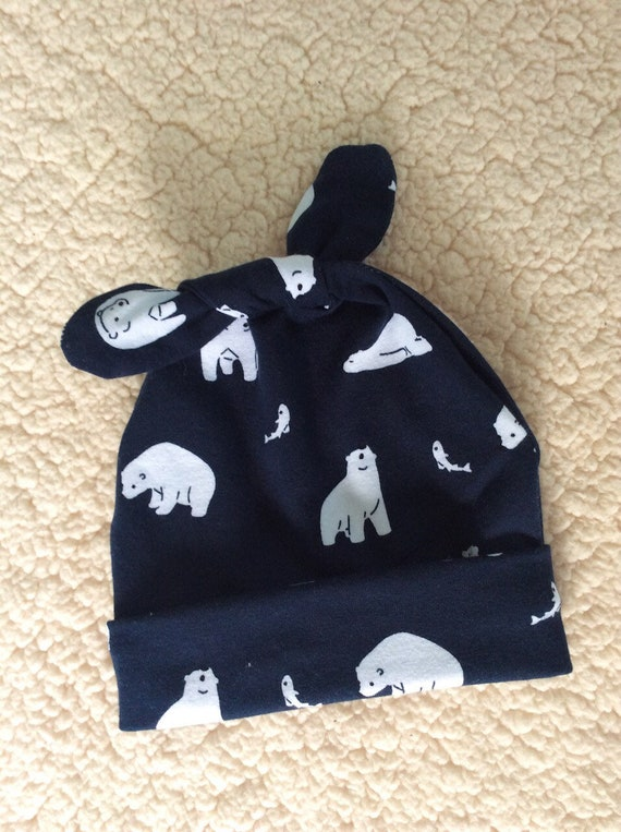 birth cap navy bear navy