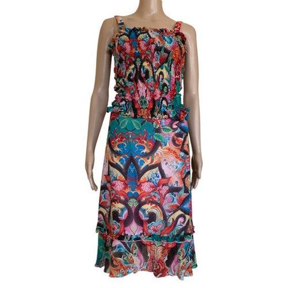 Escada silk suit, skirt and top