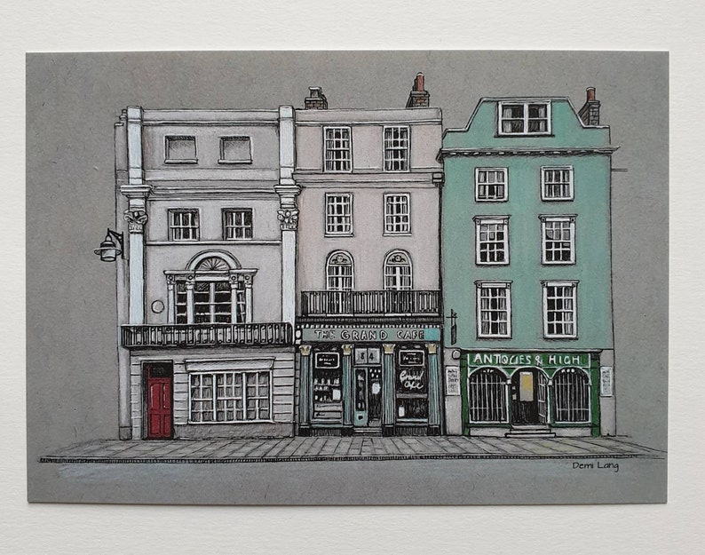 Blenheim Palace Grand Cafe St Edmund/'s Hall By Demi Lang Art Pack of 5 postcards Queens College Oxford Shops
