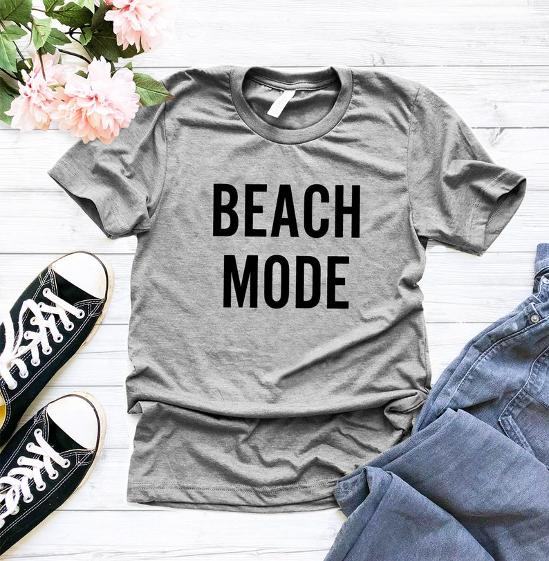 Vacation Beach Mode On Tshirt Tumblr Graphic Tee Womens Etsy