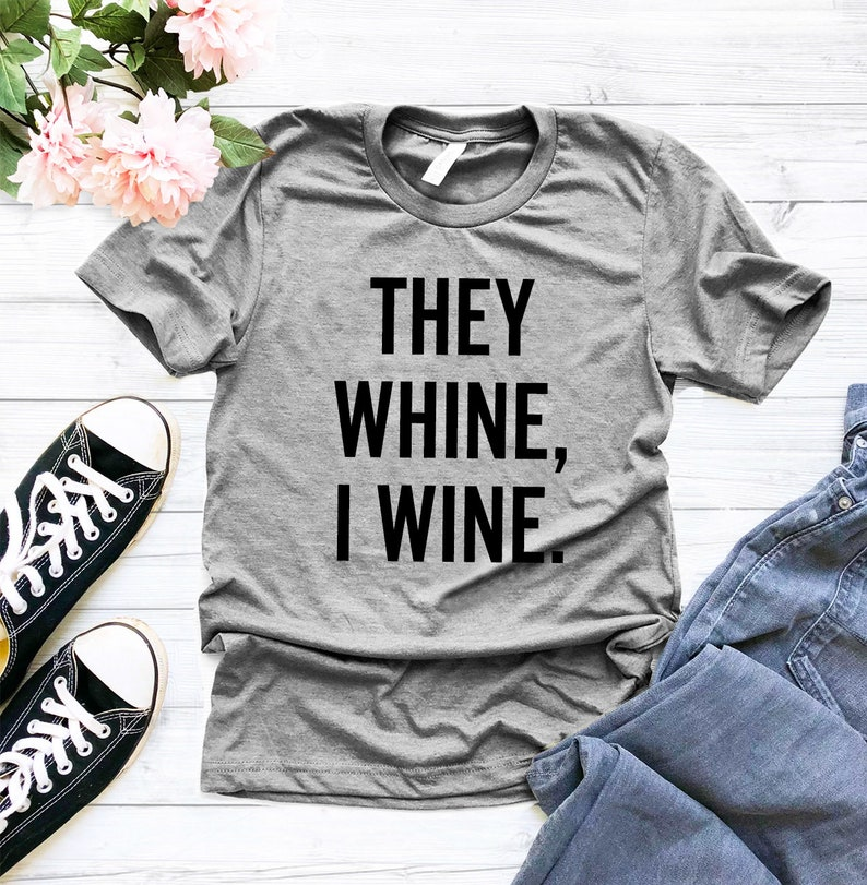 962cf56cc0 They whine i wine twin mom shirt mommy and me funny mom | Etsy