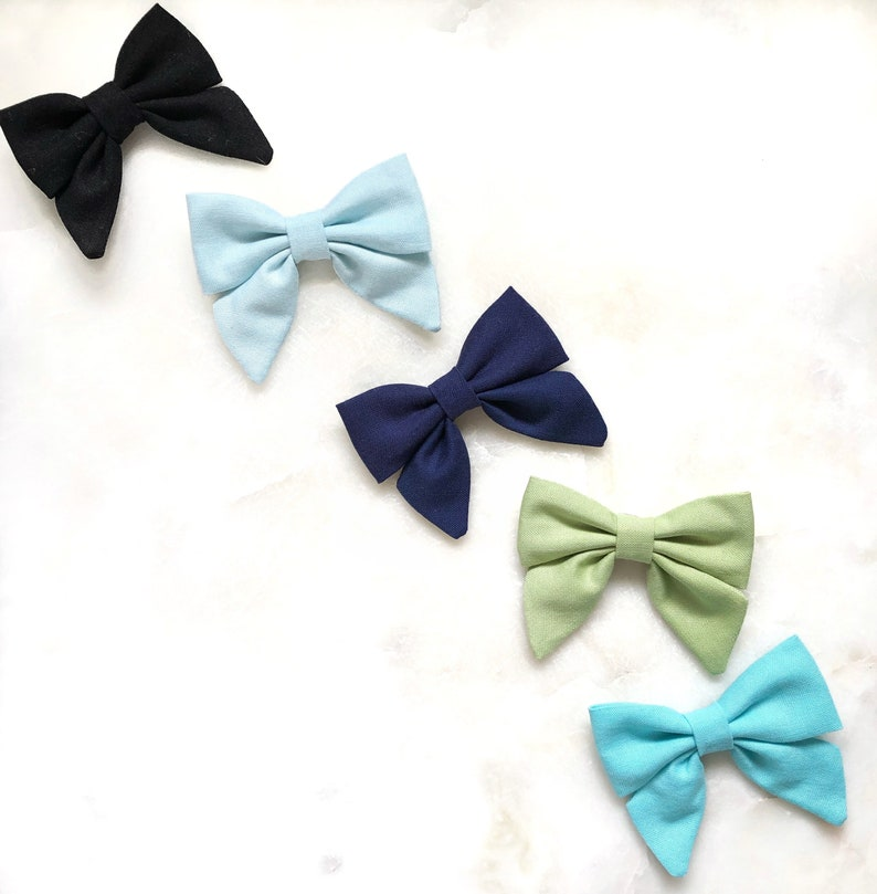 ponytail or hair clips Apple green Sailor Bow sailor bow headband bright green pigtail clips sailor headband girls sailor hair clips