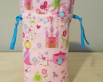 Princess drawstring project bag
