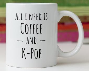 Kpop Merch Gift For Fan Friend Addict Korea Mug
