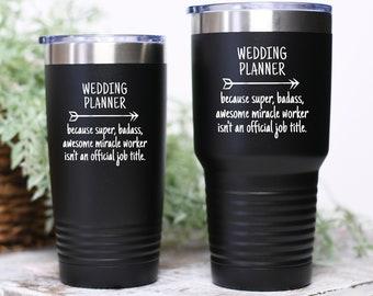 Wedding Planner Organizer Gift Tumbler