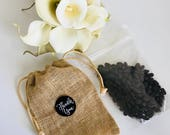 Freshly Roasted Coffee Wedding Favours in Burlap Bag (50 units), Coffee Favours, Burlap Bag, Medium Roast Coffee, Small Farmers