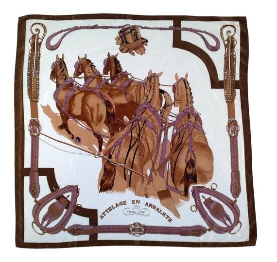 Vintage Hermes silk scarf Silk scarf women Silk sh