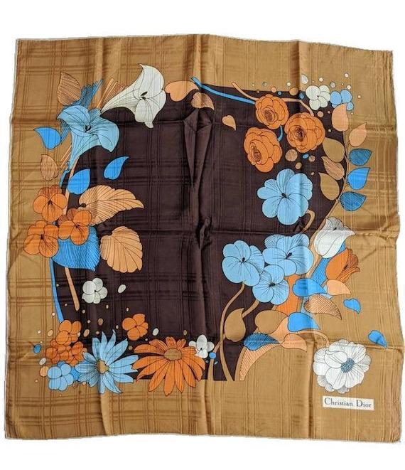 Vintage Christian Dior Silk Scarf, Silk scarf wome