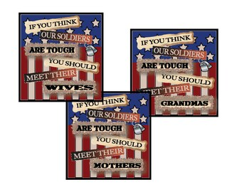Soldier Sign, Memorial Day Sign, Veterans Day, Mom of Soldier, Wife of Soldier, 4th July Sign, Americana Sign, Country Sign, Mother's Day