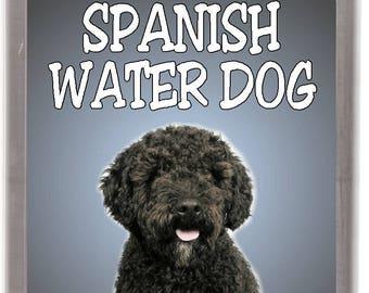 Spanish Water Dog Perro de agua Español Pendant Necklace Earrings Set