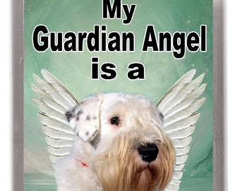 Sealyham Terrier Dog Fridge Magnet My Guardian Angel Is A Great Gift For Any Lover
