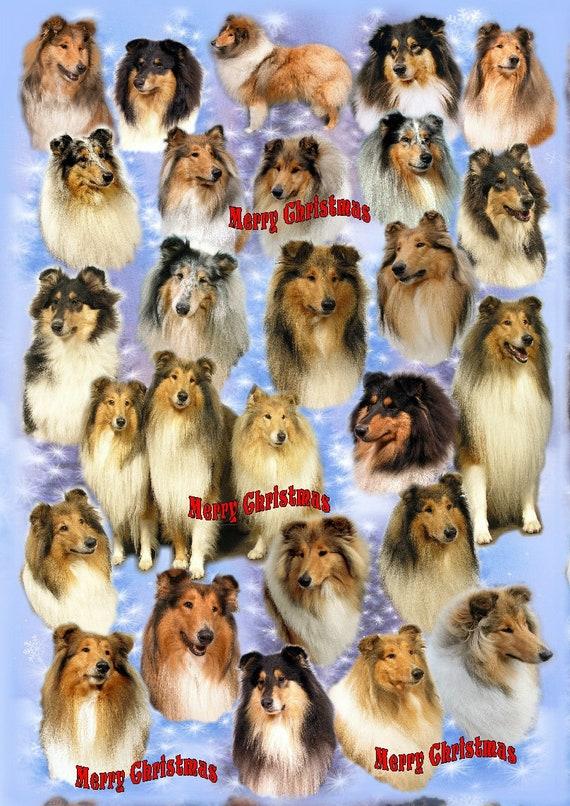 Sheltie Dog Christmas Birthday Gift labels Sticker Dog Pet Lover