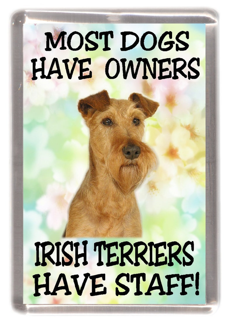 "Smoot Fox Terrier Fridge Magnet /""A VERY SPOILT SMOOTH FOX TERRIER LIVES HERE/"""