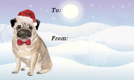 Mops Bilder Weihnachten.Mops Hund Weihnachten Geschenk Etiketten Peel Off Selbstklebende 2 Blatt 21 Etiketten 42 Insgesamt