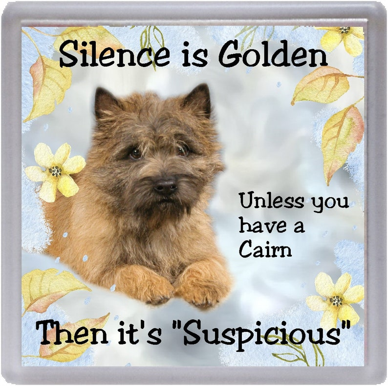 "Irish Terrier Dog Fridge Magnet /""Silence is Golden ............../"" by Starprint"