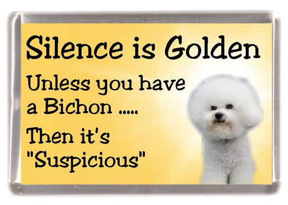 BICHON FRISE Rap Sheet FRIDGE MAGNET New DOG Funny