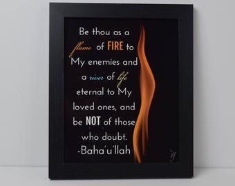 Be Thou as a Flame of Fire Quote | Print
