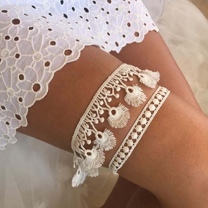 atlantean wedding Gifts for her Bohemian Garter set Toss Garter Destination wedding, Tropical bahamas Boho Keepsake Garter
